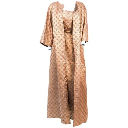 1950s-rose-gold-brocade-evening-gown-with-jacket