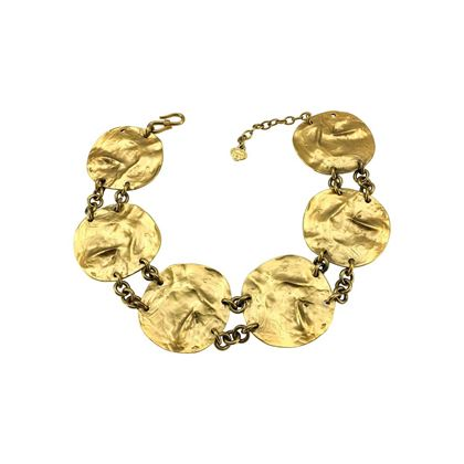 yves-saint-laurent-gold-plated-disk-necklace-robert-goossens-1989