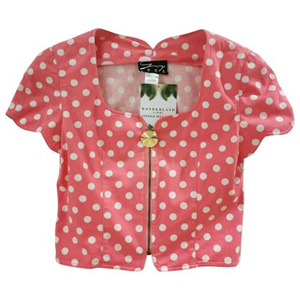 genny-pink-white-pois-jacket