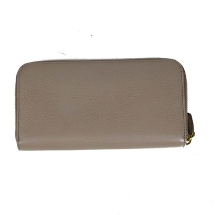 prada-zip-around-continental-wallet-taupe-pebbled-leather-gold-logo-new