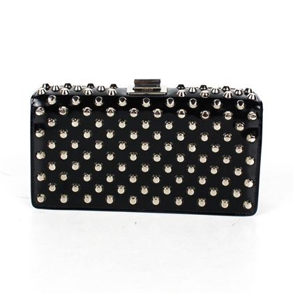 prada-rare-small-studded-clutch-bag-turn-lock-pre-owned-used