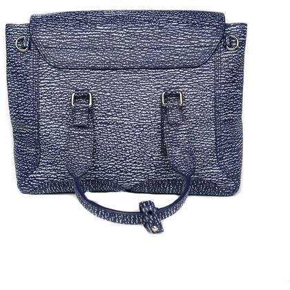 phillip-lim-pashli-shoulder-bag-blue-white-leather-pre-owned-used