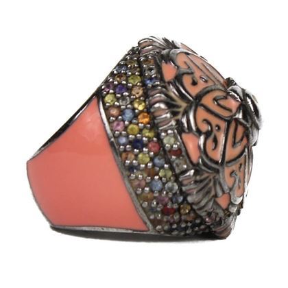 mcl-pink-flower-ring-pre-owned-used