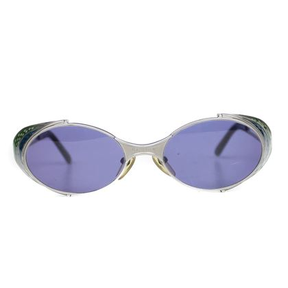 jean-paul-gaultier-vintage-sunglasses-with-silver-blue-green-blinders-pe-owned-used