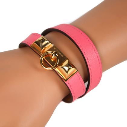 hermes-pink-double-tour-pink-rivale-leather-bracelet-small