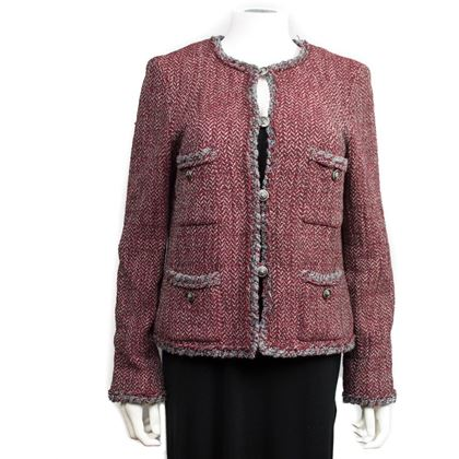 chanel-blazer-red-and-gray-herringbone-12-pre-owned-used