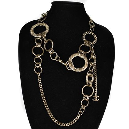chanel-long-circle-pendant-necklace-belt-crystal-circle-pendant-pre-owned-used