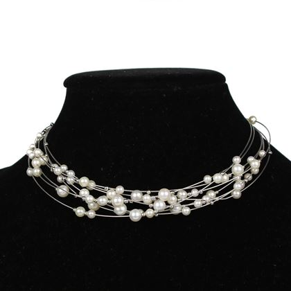 akoya-pearl-choker-multi-strand-wire-necklace-pre-owned-used