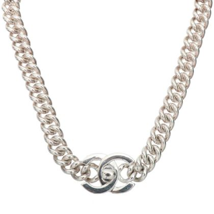 chanel-turn-lock-chain-necklace-silver-3