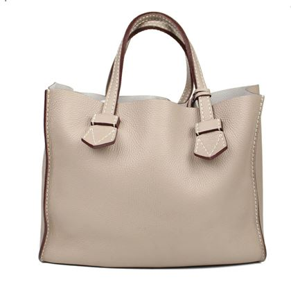 moreau-bregancon-large-taupe-tote-handbag-with-wallet-pouch-pre-owned-used
