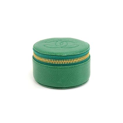 vintage-chanel-green-caviar-leather-jewelry-case-pouch