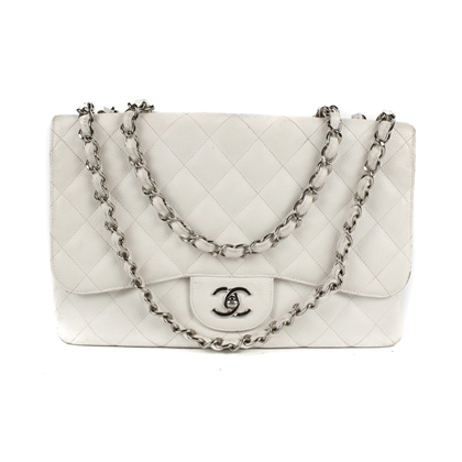 chanel-white-caviar-jumbo-shoulder-flap-bag-pre-owned-used
