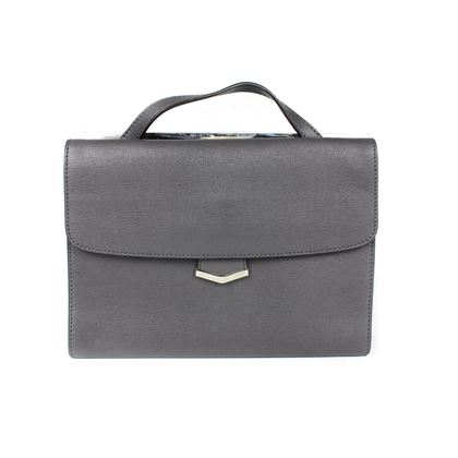 fendi-demi-jour-grey-leather-shoulder-bag-pre-owned-new