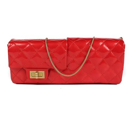 chanel-double-flap-east-west-reissue-shoulder-bag-red-pre-owned-used
