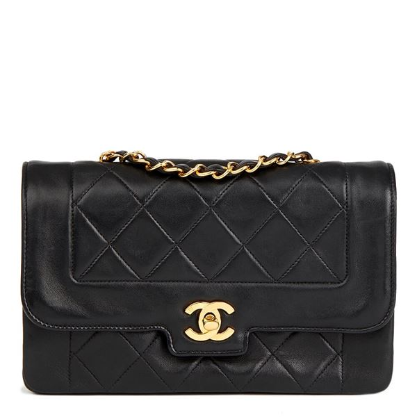 black-quilted-lambskin-vintage-small-diana-classic-single-flap-bag-3