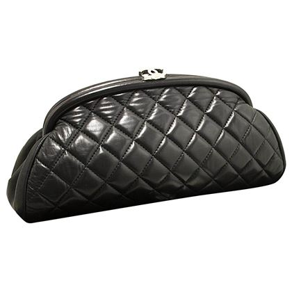 chanel-lambskin-timeless-clutch-bag-black-quilted-leather-silver