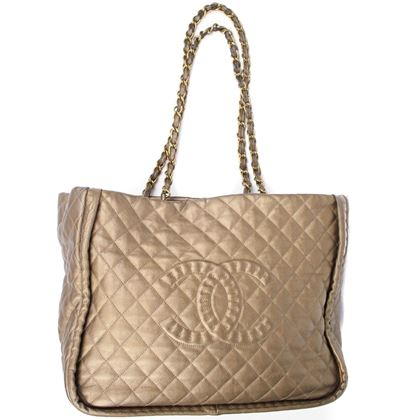 chanel-metallic-gold-large-gst-leather-quilted-tote-bag-cc-logo-grand-shopper-pre-owned-used