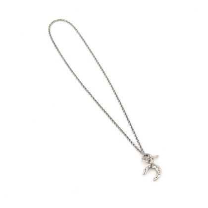 hermes-silver-lucky-horse-shoe-pendant-necklace