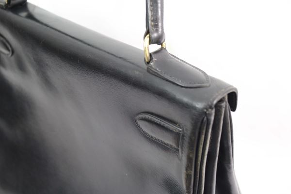 8b1780bd58b5 ... sale awesome vintage hermes kelly 28 black box leather d742c e7780