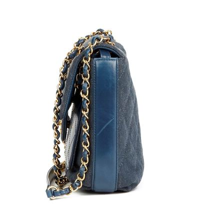 blue-quilted-denim-blue-calfskin-leather-single-flap-bag
