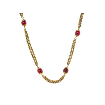 chanel-red-gripoix-gold-necklace