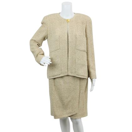chanel-beige-cream-tweed-skirt-suit-set-fr-42