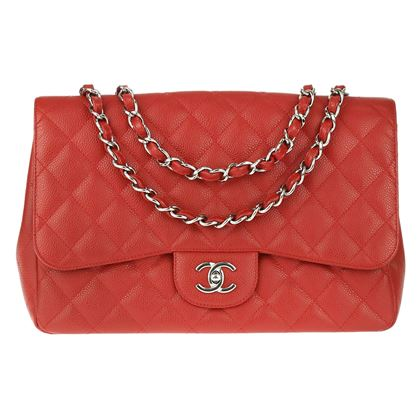 chanel-red-caviar-leather-single-jumbo-flap-bag-shw