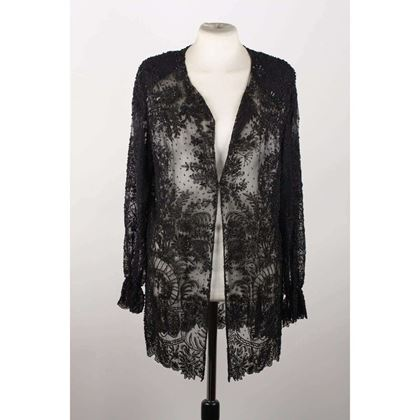 Vintage Black Embellished Beaded Shirt