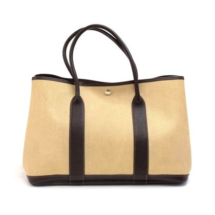 hermes-garden-party-pm-chocolate-brown-leather-beige-canvas-hand-bag-10
