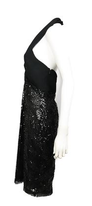 valentino-black-sequin-dress-open-back-halter-top-midi-length-us-8-pre-owned-used