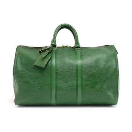 vintage-louis-vuitton-keepall-45-green-epi-leather-duffle-travel-bag-5