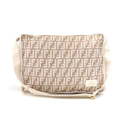 fendi-beige-white-zucca-monogram-nylon-and-white-leather-messenger-bag