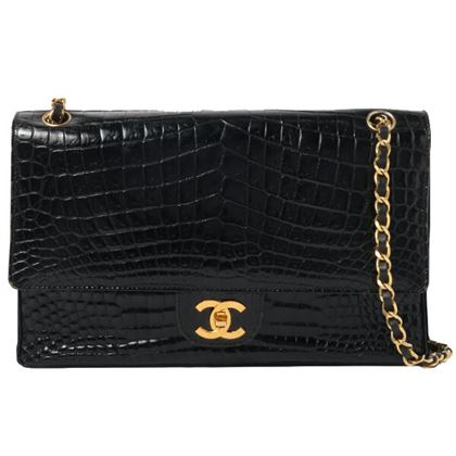 chanel-crocodile-turn-lock-shoulder-bag-black-2