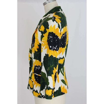 moschino-jacket-sunflowers-cotton-vintage-white-yellow