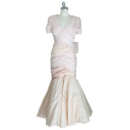 cailand-mermaid-vintage-pink-silk-wedding-dress