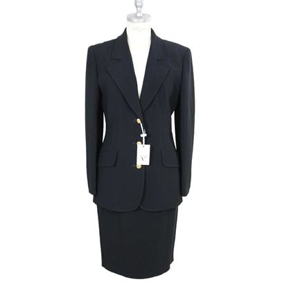 valentino-vintage-black-skirt-jacket-suit