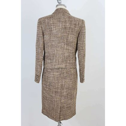 valentino-brown-vintage-wool-tailleur-jacket-skirt-dress