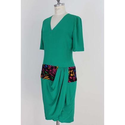 mila-schon-vintage-silk-green-dress
