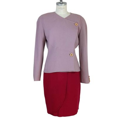 mila-schon-vintage-purple-wool-tulip-skirt-suit