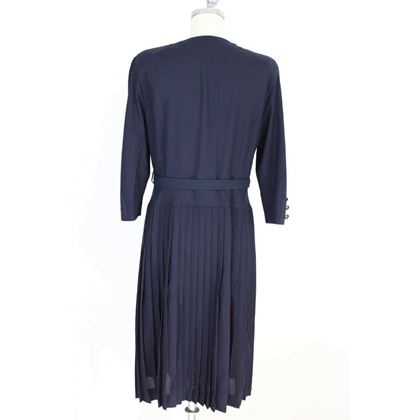 mila-schon-vintage-blue-wool-sheath-dress