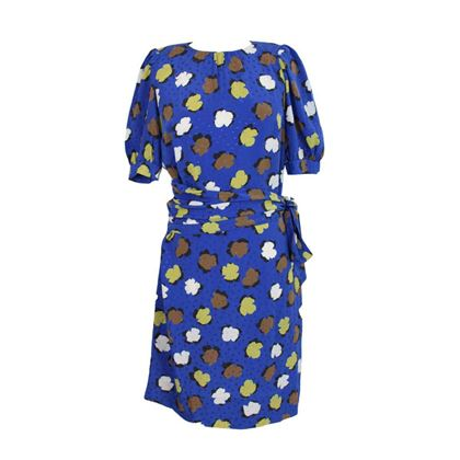 yves-saint-laurent-floral-polka-dot-dress-silk-vintage-blue
