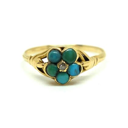 antique-victorian-turquoise-diamond-9ct-gold-mourning-ring
