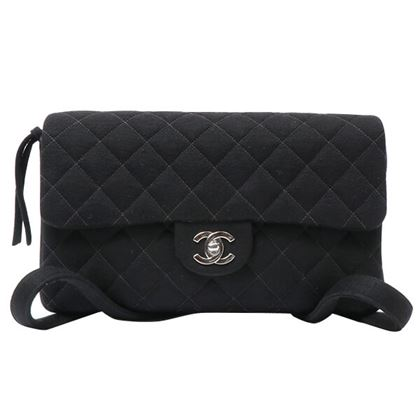 chanel-cotton-classic-flap-backpack-blacksilver