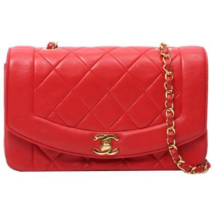 chanel-diana-flap-chain-bag-23cm-red