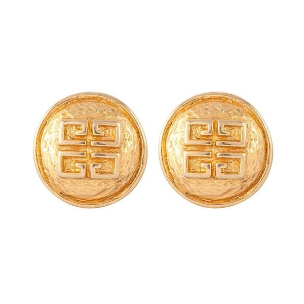 1980s-vintage-givenchy-logo-round-clip-on-earrings-3