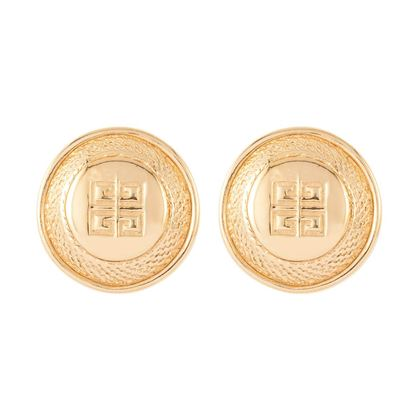 1980s-vintage-givenchy-logo-round-clip-on-earrings-5