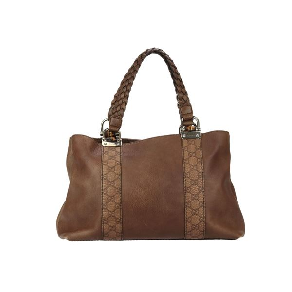 fbdf0edeecb2 Gucci Brown Leather Handbag - Foto Handbag All Collections ...