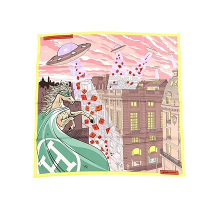 hermes-silk-space-shopping-au-faubourg-scarf-90-rose-taupe-jaune