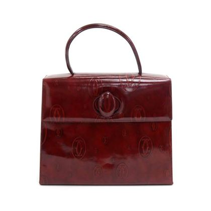 cartier-happy-birthday-burgundy-patent-leather-handbag-2000-limited-ed