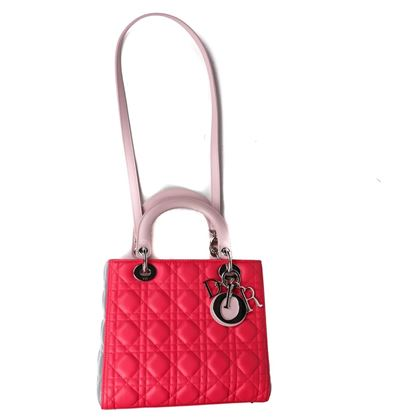 dior-pink-and-grey-colorblock-medium-lady-cannage-leather-shoulder-strap-bag-new